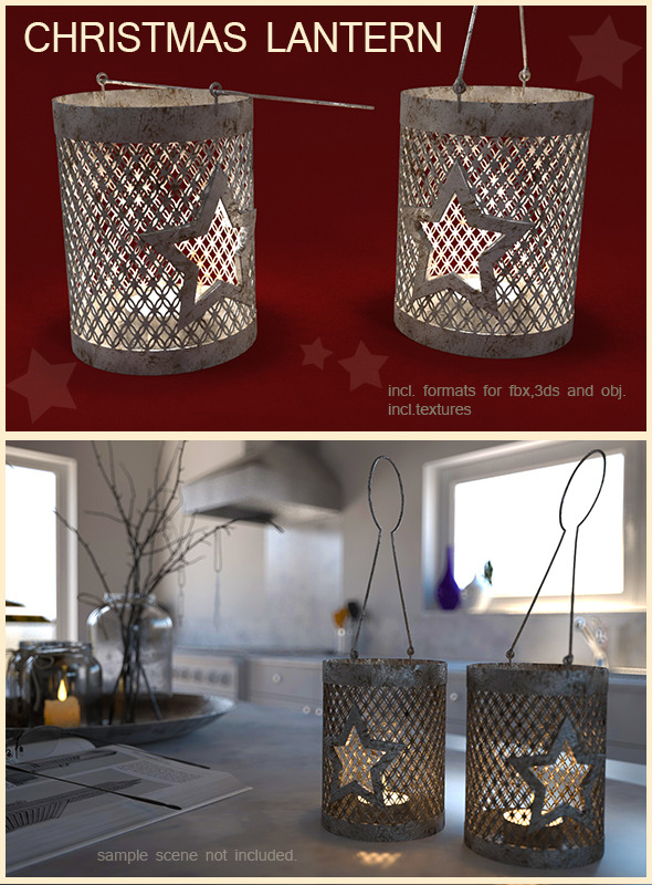 Christmas lantern - 3DOcean Item for Sale