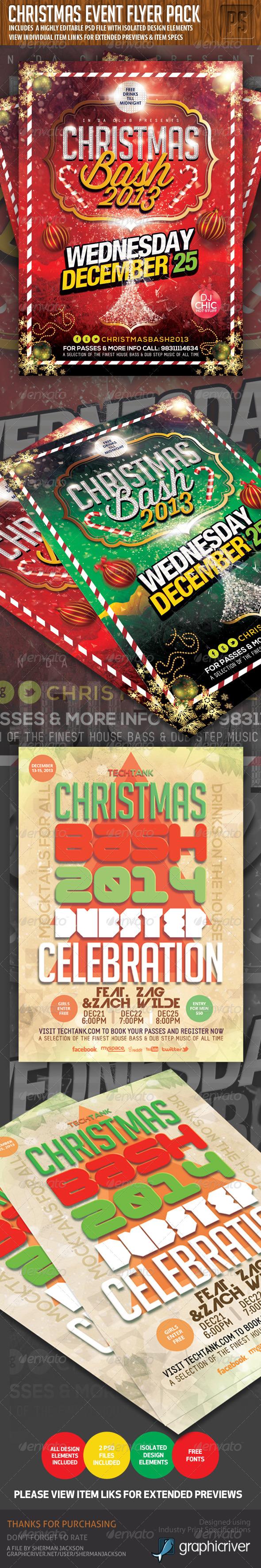 Christmas Flyer Event Bundle - Holidays Events