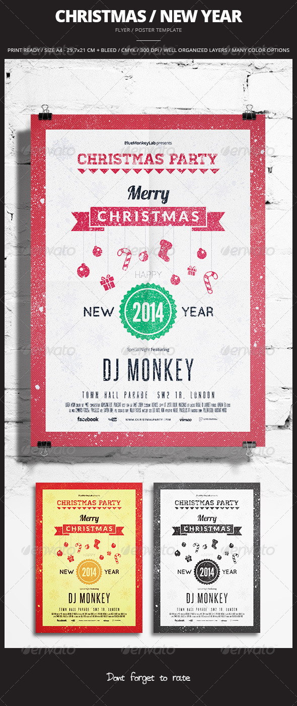 Christmas / New Year Flyer / Poster 3 - Events Flyers