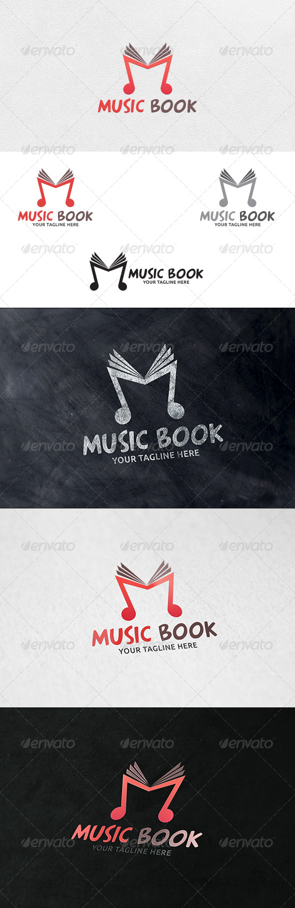 Music Book - Logo Template - Symbols Logo Templates