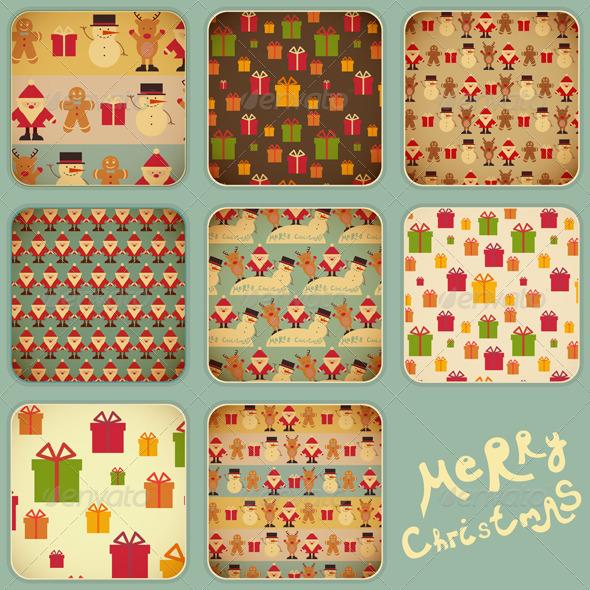 Christmas Set - Backgrounds Decorative
