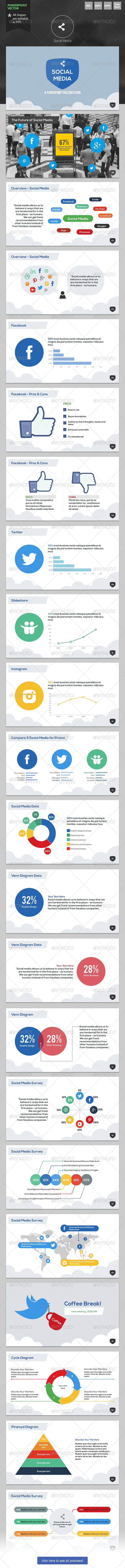 Social Media - Powerpoint Template - PowerPoint Templates Presentation Templates