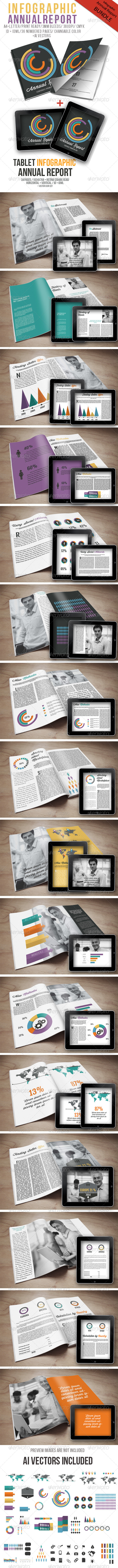 Infographic Annual Report Bundle - Proposals & Invoices Stationery