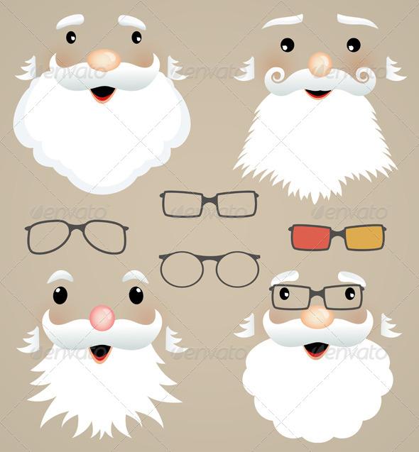 Set of Christmas Masks. - Miscellaneous Seasons/Holidays
