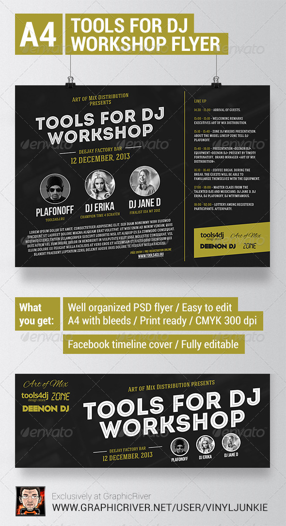 Tools4DJ Workshop Flyer with Facebook Cover - Miscellaneous Events