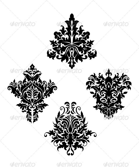 Damask Vintage Floral Patterns - Patterns Decorative