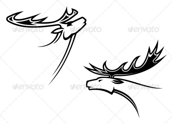 Wild Deer Mascots - Animals Characters