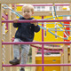 Cute Little Boy Climbing On A Jungle Gym - VideoHive Item for Sale
