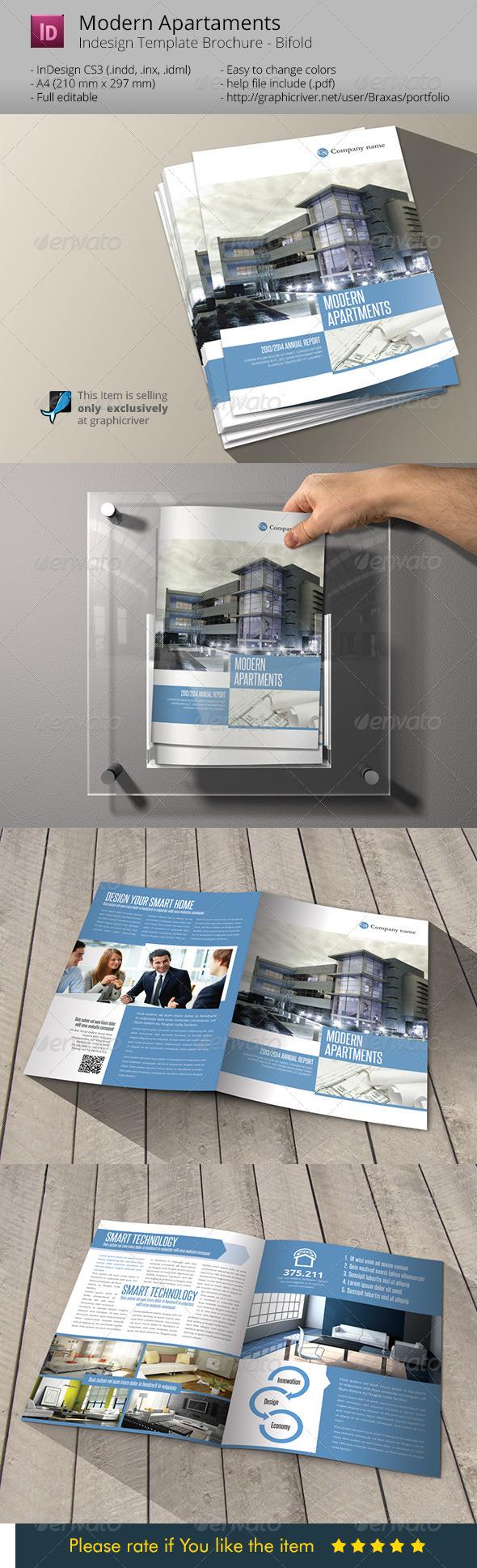 Modern Apartaments Indesign Template Brochure A4 - Informational Brochures