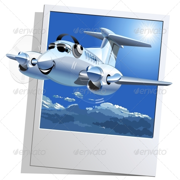 Vector Cartoon Airplane - Miscellaneous Characters