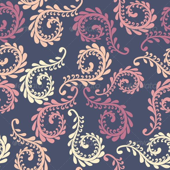 Vector Fern Seamless Pattern - Patterns Decorative