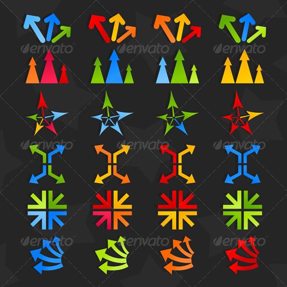 Collection of arrows7 - Web Elements Vectors