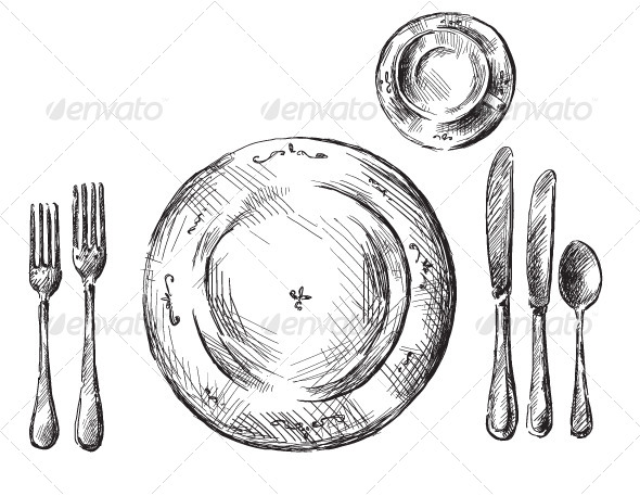 Table Setting - Food Objects