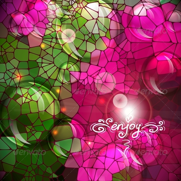 Abstract Colorful Shining Circle Background - Patterns Decorative