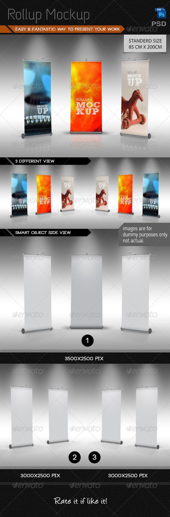 Rollup Mockup V1.0 - Signage Print