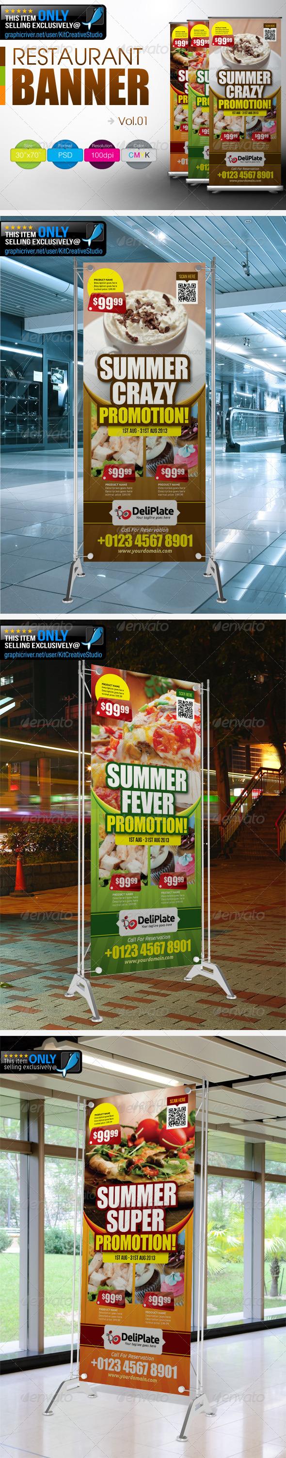 Restaurant Banner Vol.1 - Signage Print Templates