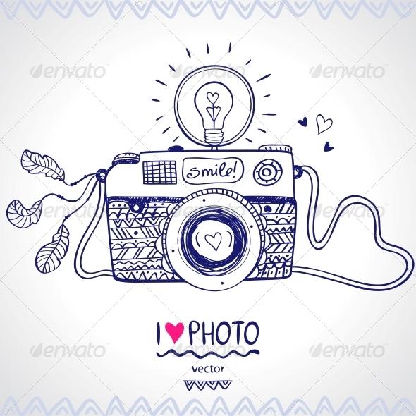 Camera Sketch - Retro Technology