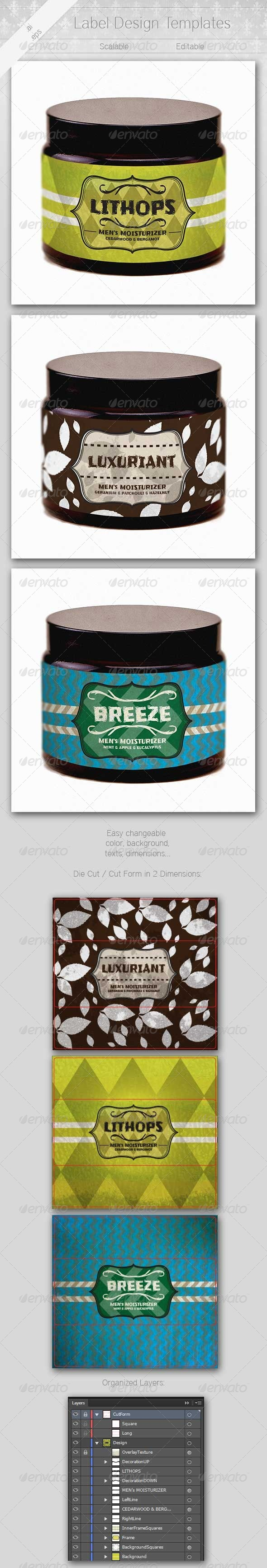 Labels - Packaging Print Templates