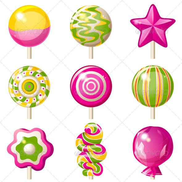 Lollipops Set - Food Objects