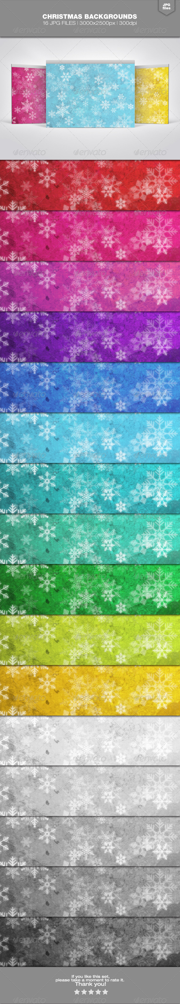 Christmas Backgrounds Set 1 - Backgrounds Graphics