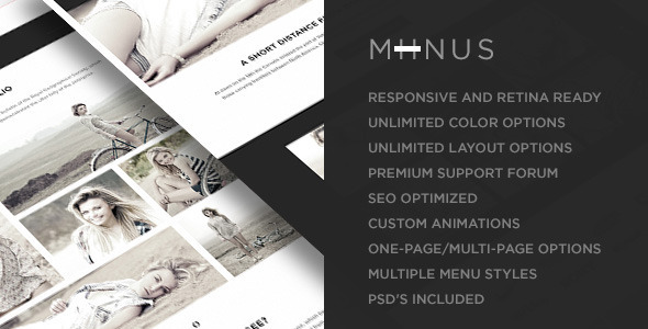 Miinus – Retina Responsive Multi-Purpose Theme