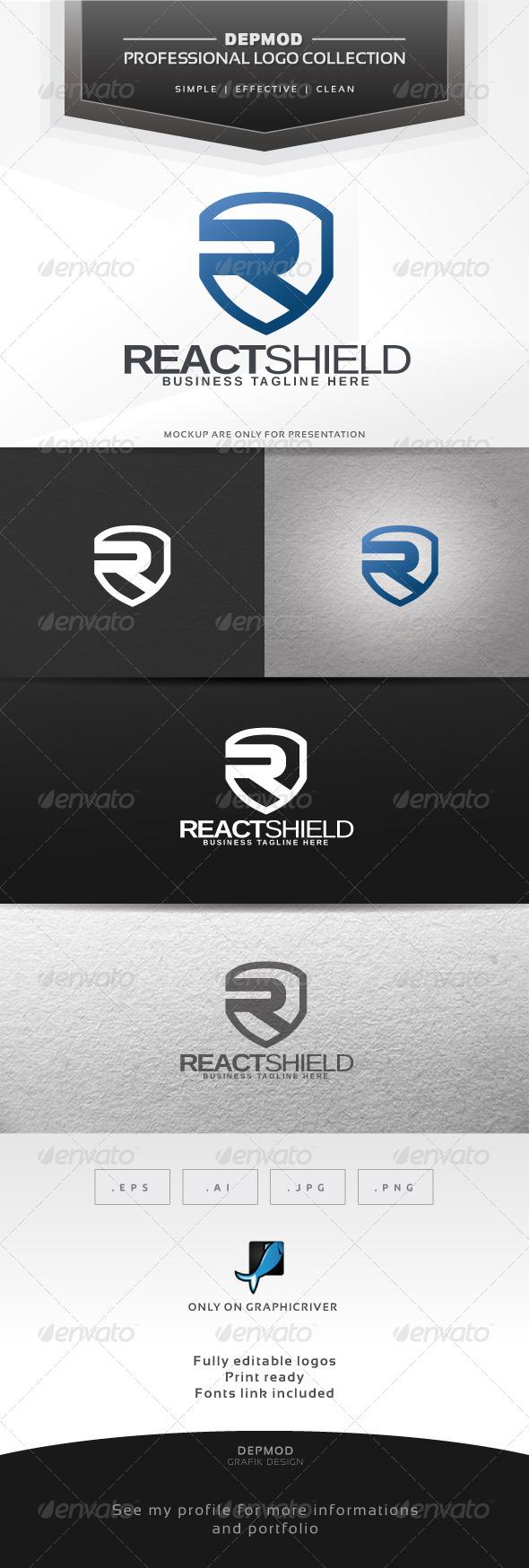React Shield Logo - Letters Logo Templates