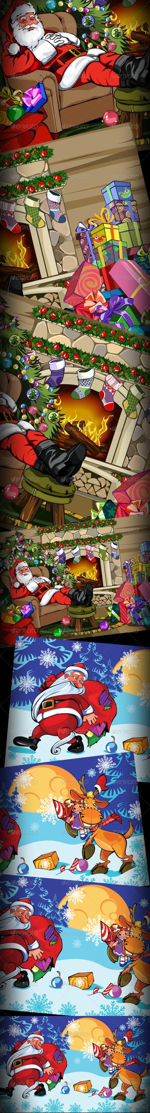 Christmas & New Year Cards - Christmas Seasons/Holidays