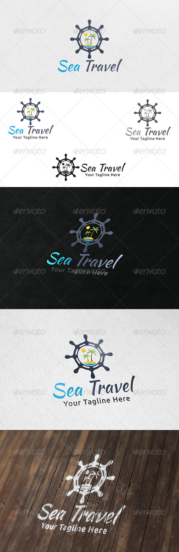Sea Travel - Logo Tempate - Objects Logo Templates
