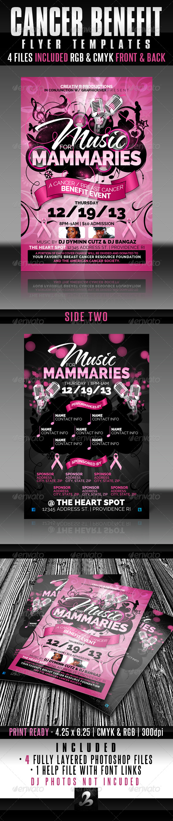 Cancer Benefit Flyer Templates   Events Flyers  Donation Flyer Template