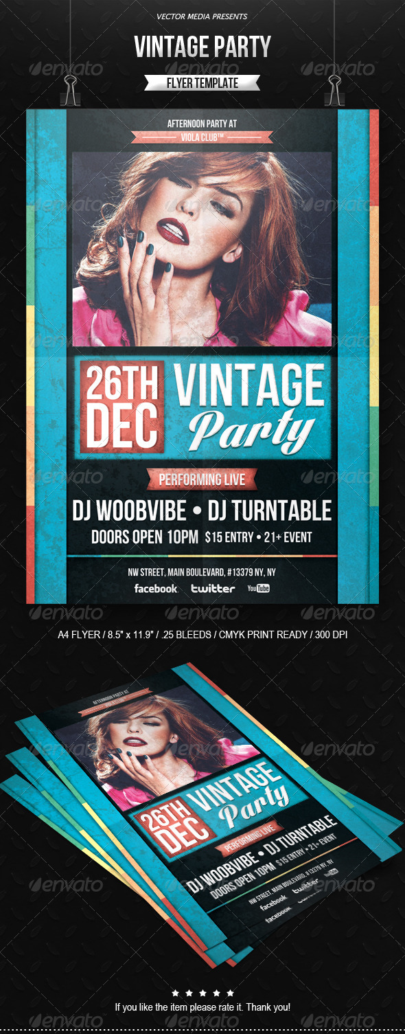 Vintage Party - Flyer - Clubs & Parties Events
