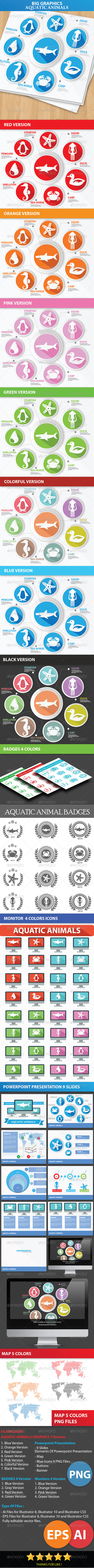 Big Graphics Aquatic Animals Concept - Animals Characters