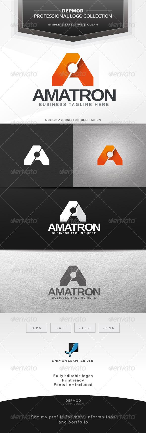 Amatron Logo - Letters Logo Templates