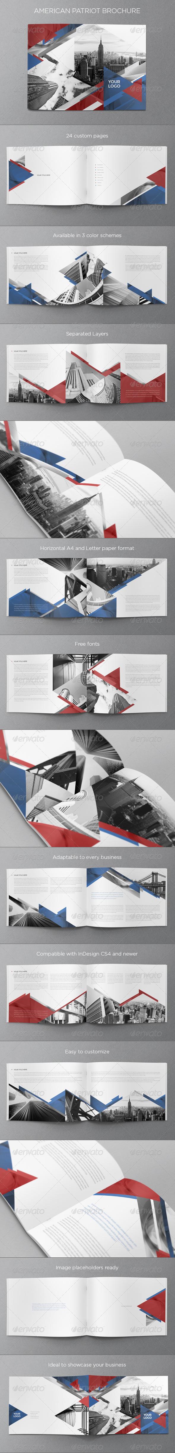 American Patriot Brochure - Brochures Print Templates