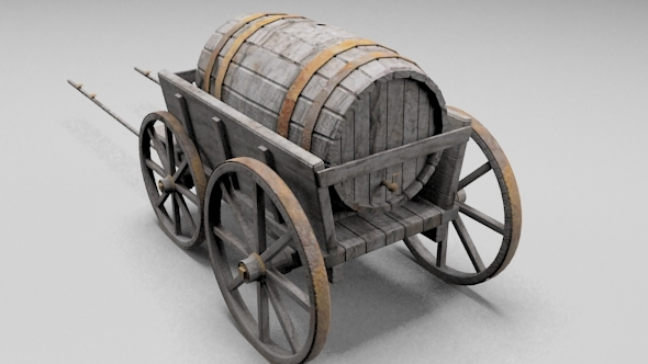 Barrel Carriage - 3DOcean Item for Sale