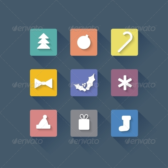 Seamless Vector Background with Christmas Elements - Christmas Seasons/Holidays