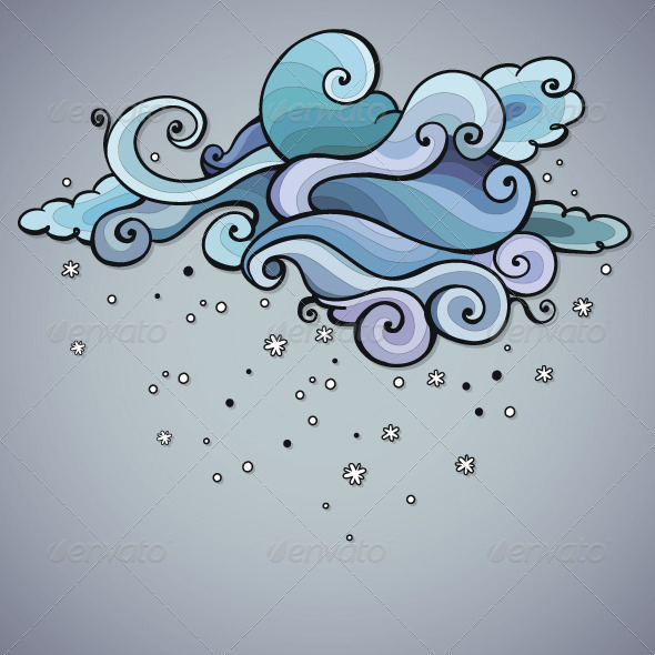 Snowing Cloud Swirls - Backgrounds Decorative