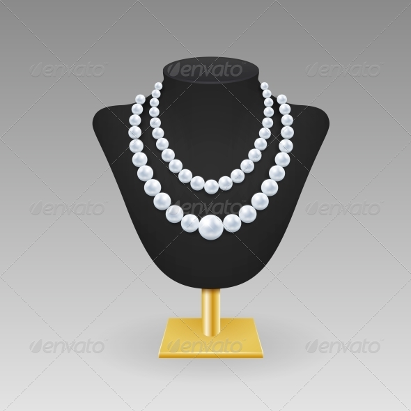 Pearl Necklace on a Rack - Retail Commercial / Shopping