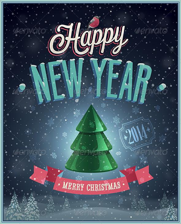 New Year Poster - New Year Seasons/Holidays
