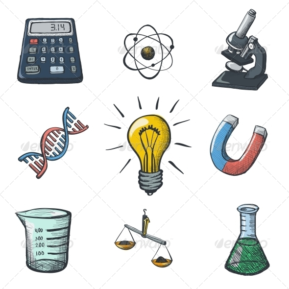 Color Science Icons Sketch - Health/Medicine Conceptual