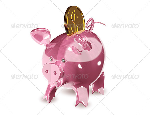 Piggy Bank - Abstract 3D Renders