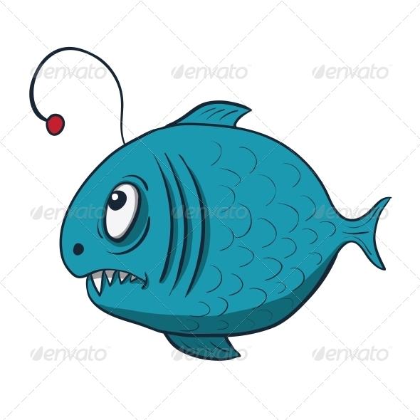 Funny Cartoon Fish - Animals Characters