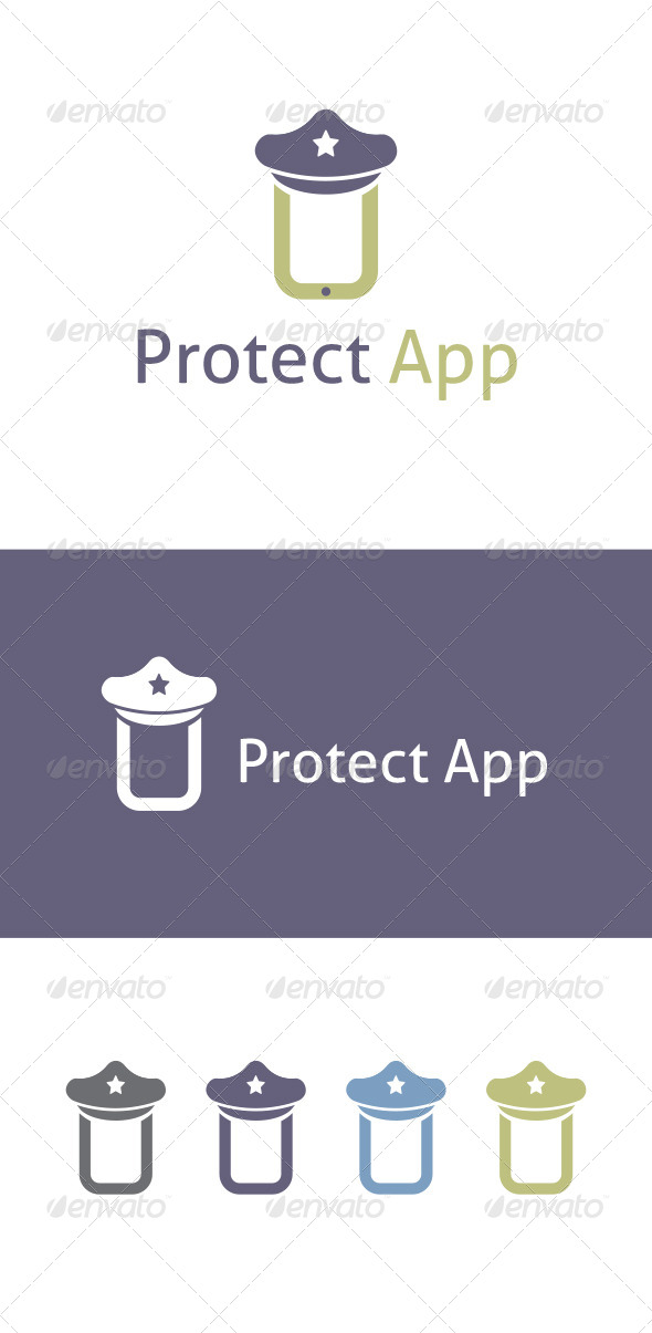 Preotect App Logo Template - Vector Abstract