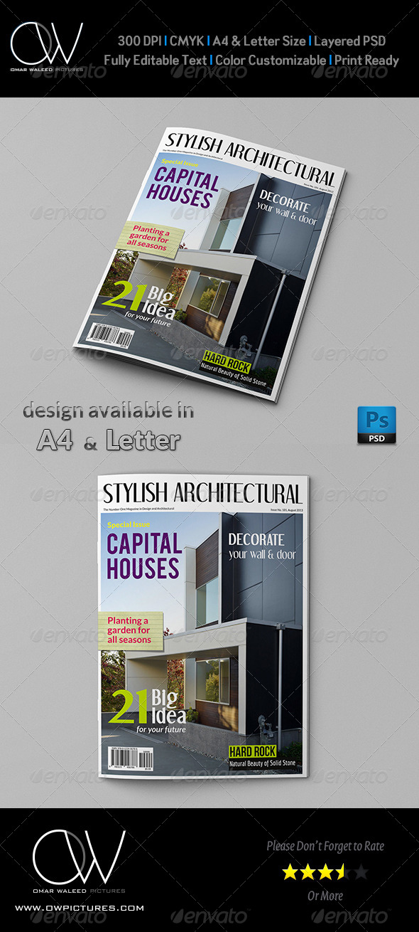 Architectural Magazine Cover - Magazines Print Templates