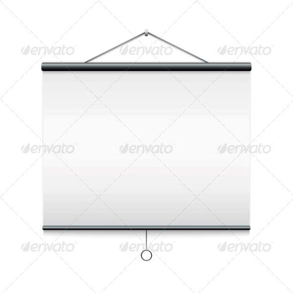 Projector Screen Isolated on White. - Computers Technology