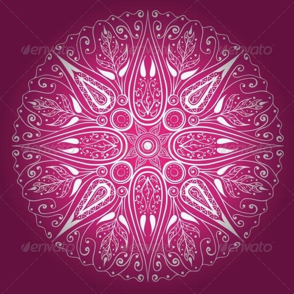 Ornamental Round Lace - Decorative Symbols Decorative