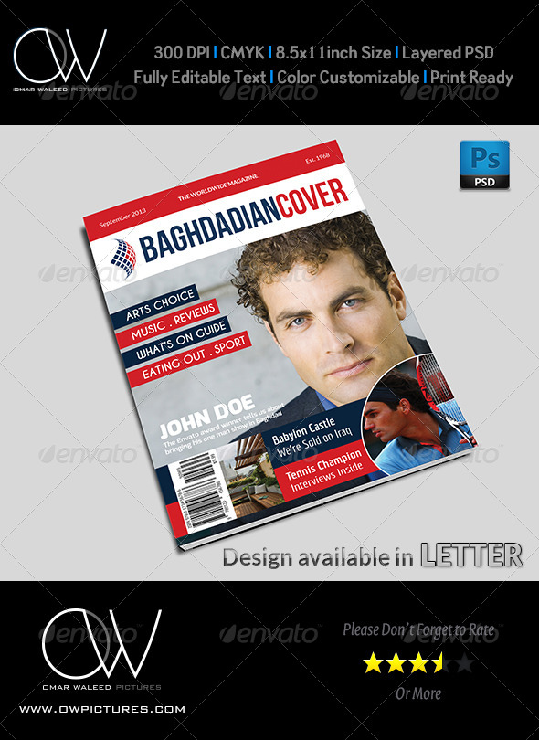 News Magazine Cover Template - Magazines Print Templates