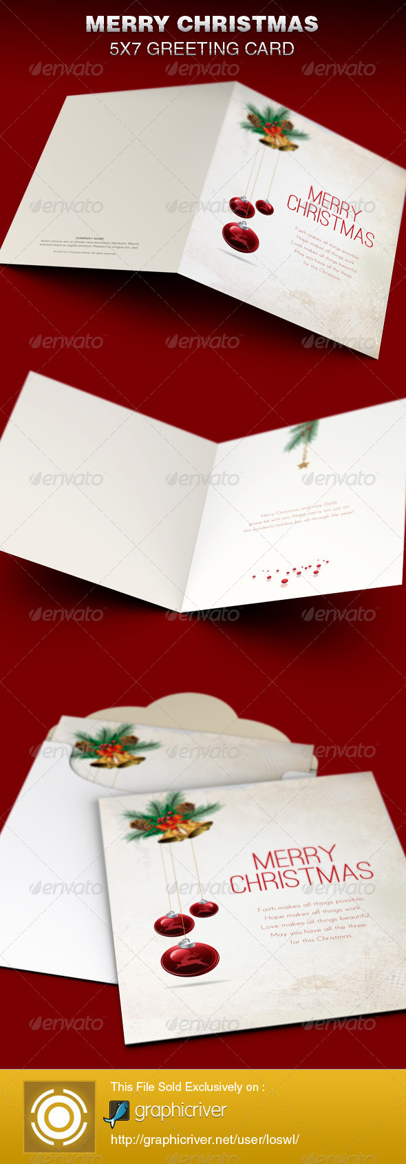 Merry Christmas Greeting Card Template - Greeting Cards Cards & Invites