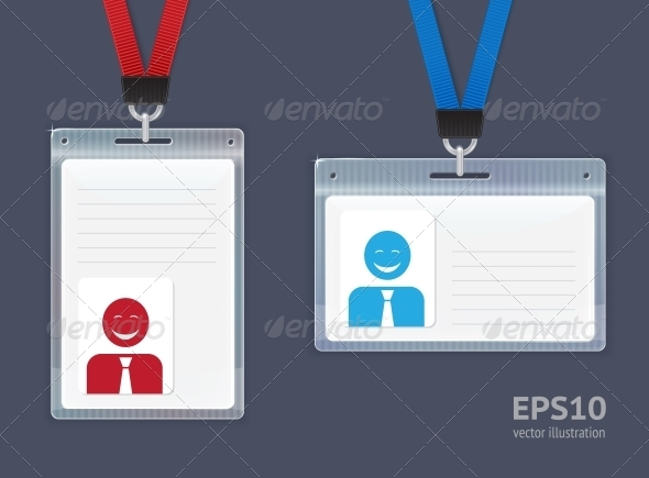 Plastic ID Badges. - Retail Commercial / Shopping