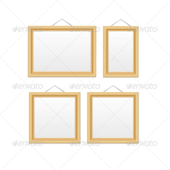 Gold Picture Frames. - Decorative Symbols Decorative