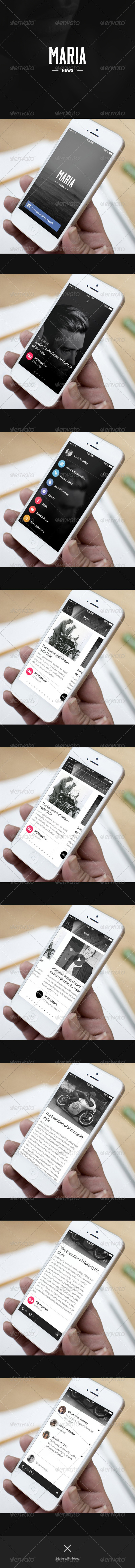 News App - Maria - User Interfaces Web Elements